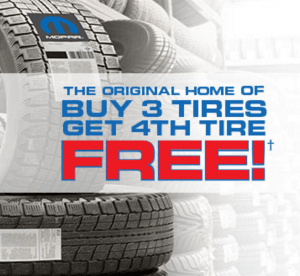 Buy 3 Tires and get the 4th Tire Free