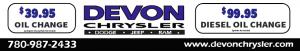$39.95 oil Change Devon Chrysler Edmonton