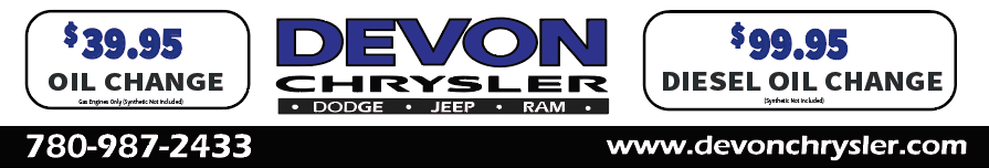 $39.95 oil Change Devon Chrysler Edmonton