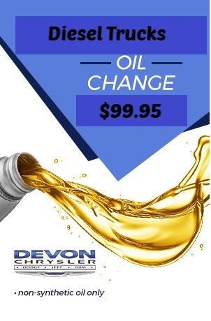 Diesel Truck Oil Change $99.95