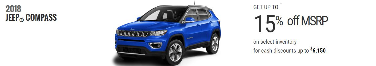 2018 Jeep Compass Offers February