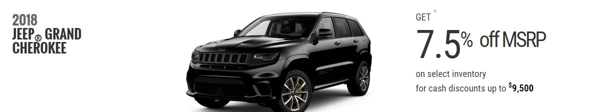 2018 Jeep Grand Cherokee Offers February