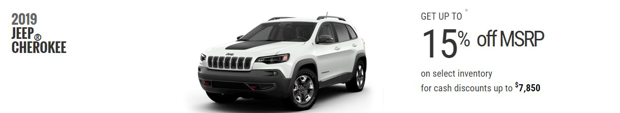 2019 Jeep Cherokee February Offers