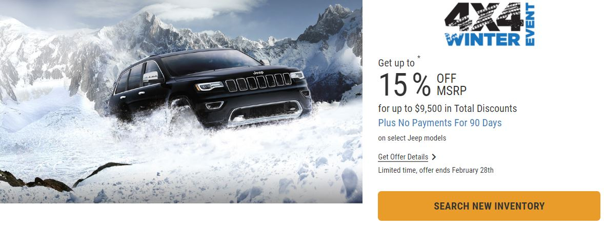 February Jeep Offers