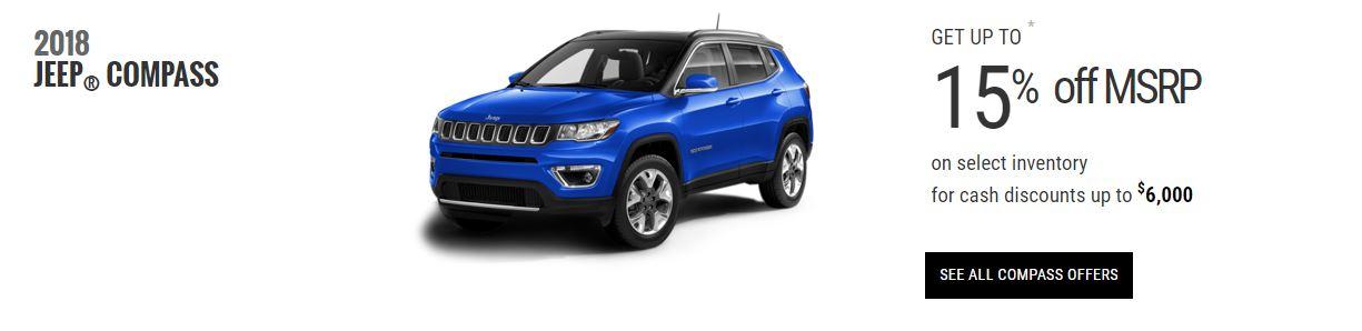 2018 Jeep Compass Specials