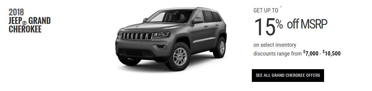 2018 Jeep Grand Cherokee Specials