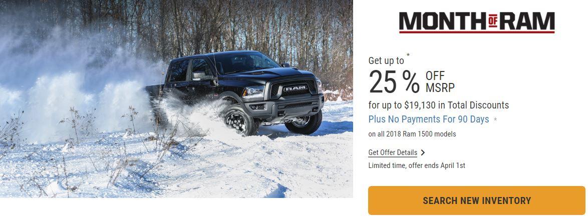 2018 Ram 1500 Trucks 25% Off in Edmonton