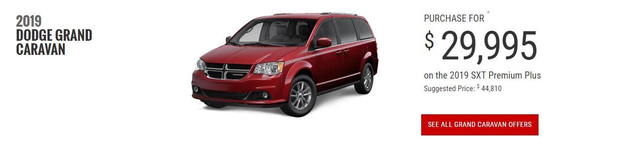 2019 Dodge Grand Caravan $29,995