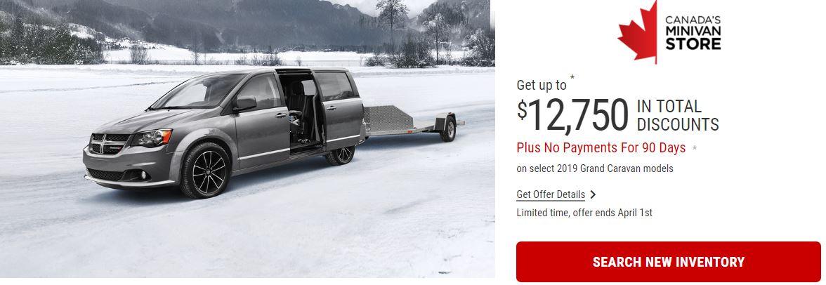 2019 Dodge Grand Caravan Specials