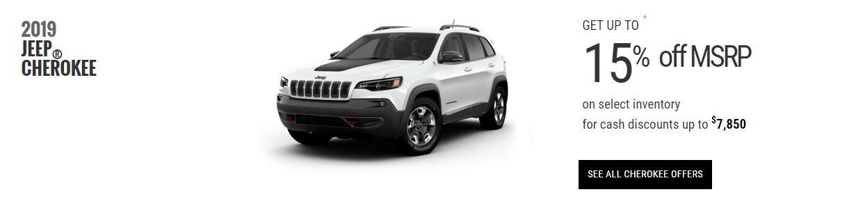 2019 Jeep Cherokee Specials