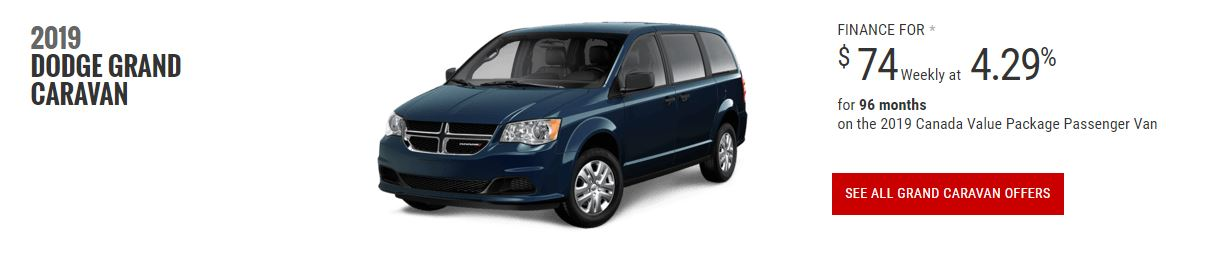2019 Dodge Grand Caravan Lease Special Edmonton