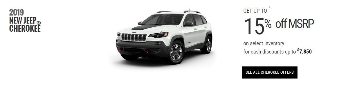 2019 Jeep Cherokee Edmonton Specials