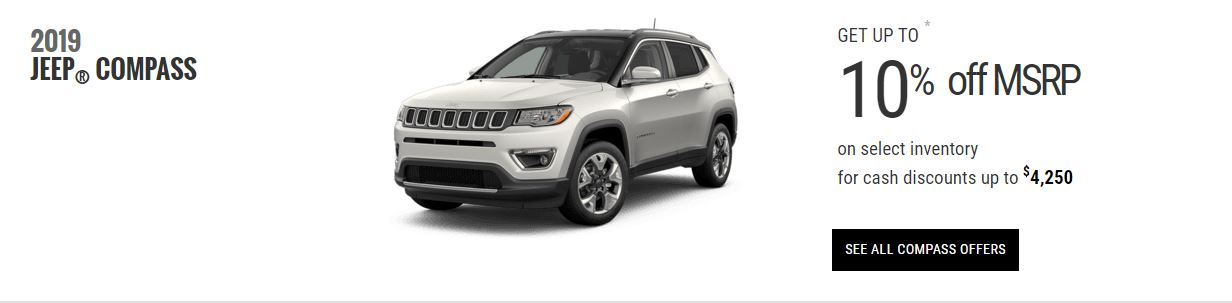 2019 Jeep Compass Edmonton Specials