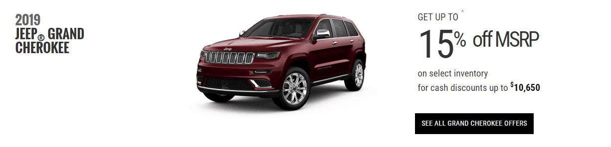 2019 Jeep Grand Cherokee Edmonton Specials