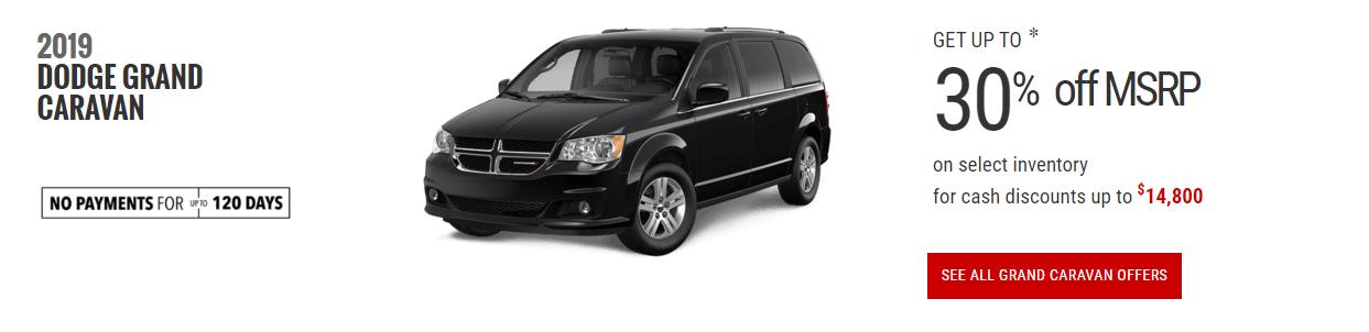 2019 Dodge Grand Caravan Special Offers April