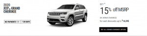 2020 Jeep Grand Cherokee Special Offers Devon Edmonton