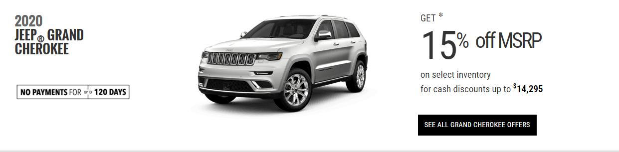 2020 Jeep Grand Cherokee Special Offers Devon Edmonton