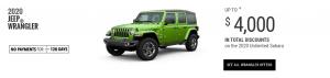 2020 Jeep Wrangler Special Offers Devon Edmonton