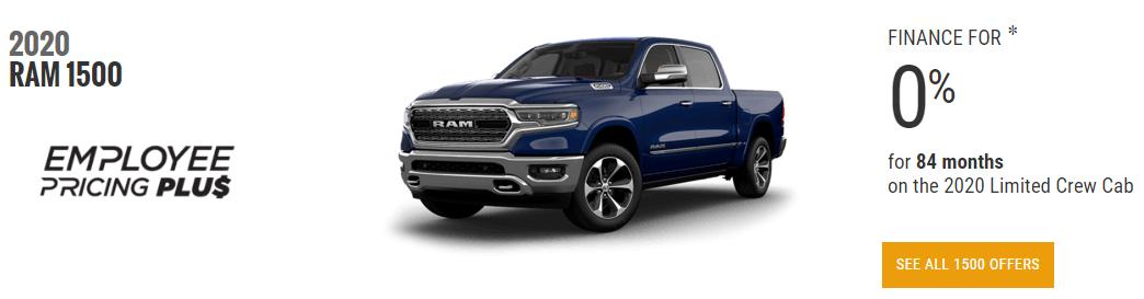 dodge truck incentives june 2020 2020 Ram Truck 1500 Employee Pricing June Devon Chrysler
