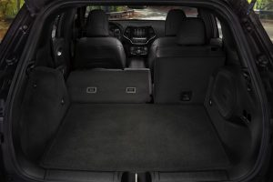 Rear cargo space of 2020 Jeep Cherokee