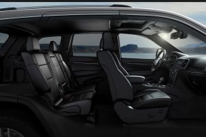 2020 Jeep Grand Cherokee interior from the side