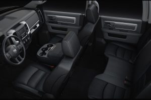 2020 Ram 1500 Classic view of front and back seats
