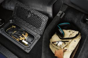 2020 Ram Classic storage compartments with work gear