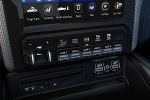 Dash controls of the Ram 3500