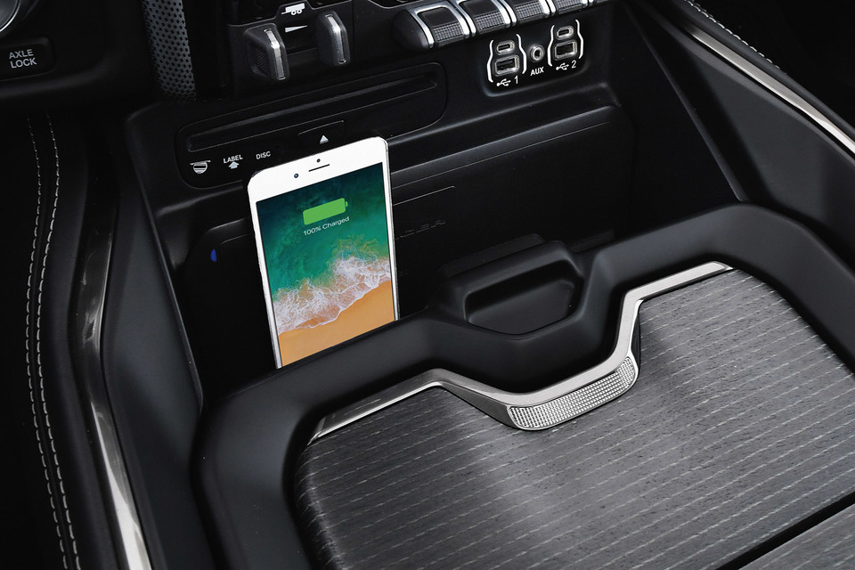 Phone charging station in Ram 3500