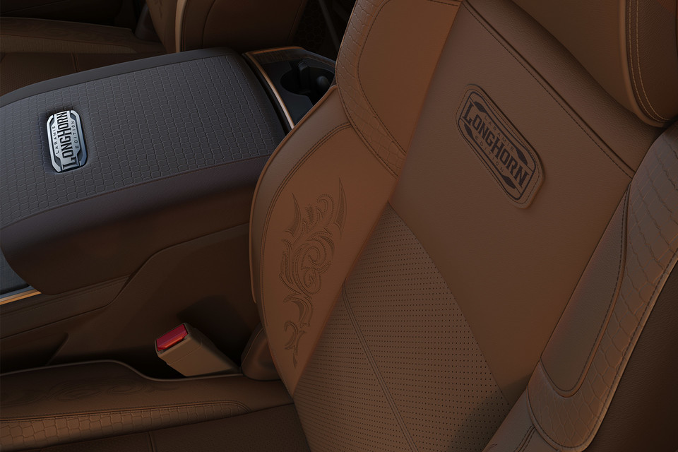 Longhorn interior seat and centre console on Ram 3500