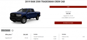 2019 Ram 2500 Tradesman Crew Cab Devon Chrysler Cash Offer Edmonton
