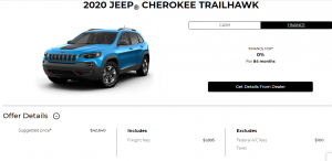 2020 Jeep Cherokee Special Offers Incentives Devon Chrysler Edmonton