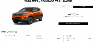 2020 Jeep Compass Special Offers Incentives Devon Chrysler Edmonton
