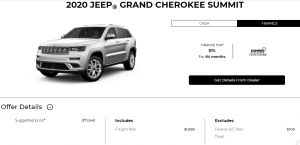 2020 Jeep Grand Cherokee Summit Devon Chrysler Special Offers Incentives Edmonton