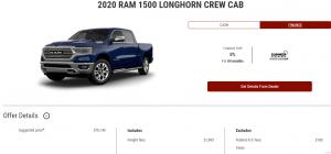 2020 Ram 1500 Longhorn Crew Cab Devon Chrysler Edmonton