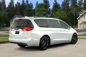 2020 white Chrysler Pacifica parked in a driveway