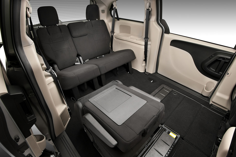 Grand Caravan interior with 2nd row folded