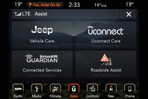 Interior technology control system of Jeep Gladiator