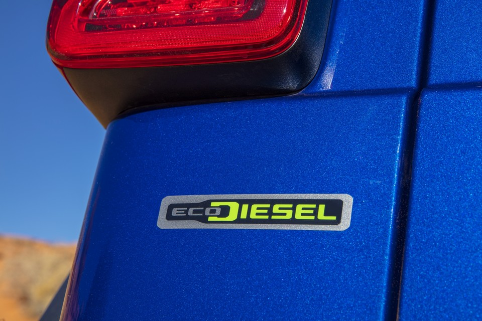 2020 Jeep® Wrangler Rubicon EcoDiesel sticker on the vehicle body