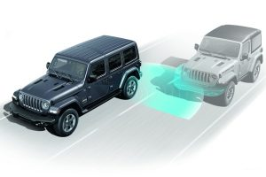 2020 Jeep Wrangler with safety blindspot monitoring