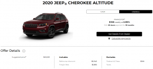 020 Jeep Cherokee Special Finance Offers Devon Chrysler Edmonton