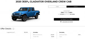 2020 Jeep Gladiator Special Cash Offer Devon Chrysler Edmonton