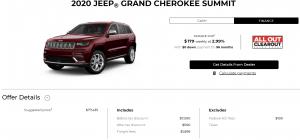 2020 Jeep Grand Cherokee Summit Special Finance Offer Devon Chrysler Edmonton