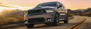 2020 Dodge Durango in grey driving on the highway