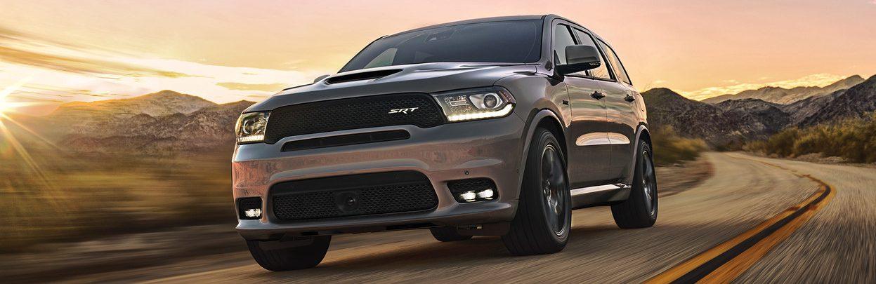 2020 Dodge Durango in grey driving on the highway