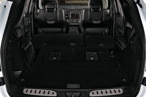 Interior rear of trunk with seats down of 2020 Dodge Durango