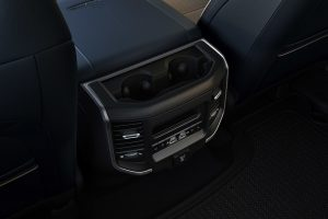 Ram 1500 rear cup holder with USB ports