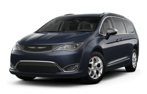 2020 Chrysler Pacifica front three-quarter view