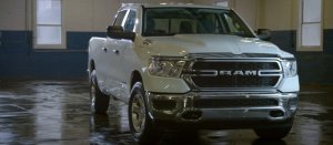 2020 Ram 1500 Tradesman parked in a shop