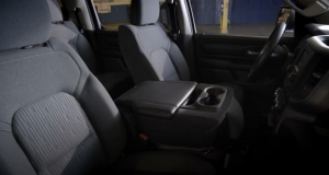 Interior side front view of Ram 1500 Tradesman seats